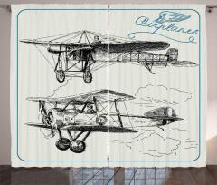 Nostaljik Uçak Fon Perde Nostaljik Uçak