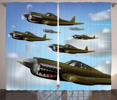 Savaş Uçakları Fon Perde Yeşil Savaş Uçakları Bulut