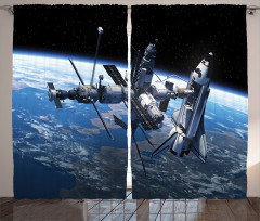 Uzayın Büyüsü Fon Perde Dünya Kozmos Mavi Siyah