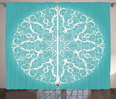 Dantel Desenli Fon Perde Beyaz Dantel Figürü Şık Tasarım
