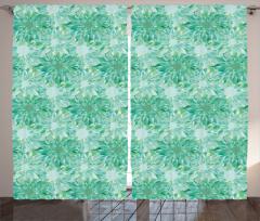 Huzur Veren Çiçekler Fon Perde Çiçek Desenli Çeyizlik Tasarım