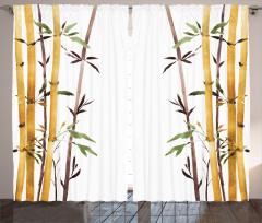 Bambu Desenli Fon Perde Çeyizlik Şık Tasarım