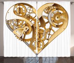 Mekanik Kalp Temalı Fon Perde Sevgili İçin
