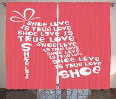 Ayakkabı Tutkununa Özel Fon Perde Kırmızı