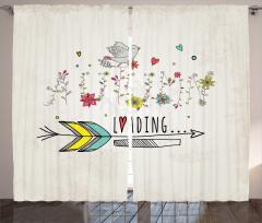 Çiçek ve Kuş Desenli Fon Perde Şık Tasarım