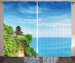 Cennet Tapınağı Temalı Fon Perde Mavi Deniz