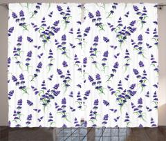 Minik Şık Çiçekler Fon Perde Çeyizlik Mor Şık