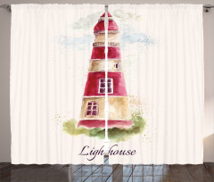 Nostaljik Deniz Feneri Fon Perde Deniz Feneri Şık