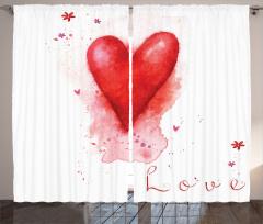 Kalp ve Çiçekler Fon Perde Kalp ve Çiçekler
