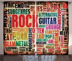 Rock Tutkusu Fon Perde Nostaljik