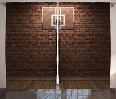 Basketbol Aşkı Fon Perde Eski Salon Turuncu