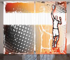 Basketbol Sevdası Fon Perde Karakalem Poster Etkili