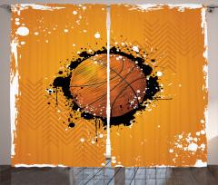 Basketbol Topu Desenli Fon Perde Basketbol Topu Desenli Spor