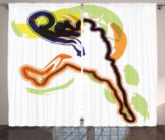 Basketbol Oyuncusu Fon Perde Rengarenk Şık Tasarım