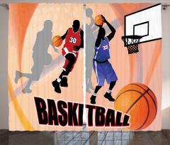 Basketbol Maçı Fon Perde Nostaljik Poster Etkili