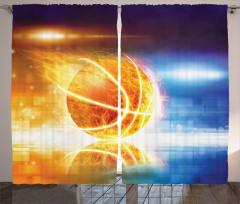Alev Alan Basket Topu Fon Perde Alev Alan Basket Topu