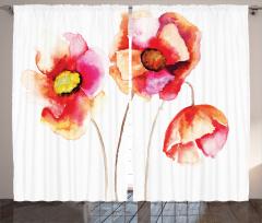 Yağlı Boya Gelincik Fon Perde Gelincik Çiçeği