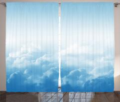 Mavi Gökyüzü ve Bulut Fon Perde Beyaz Işık