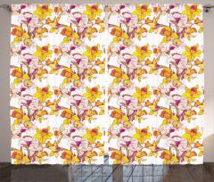 Bahar Coşkusu Fon Perde Sarı Nergis Çiçekli Tasarım