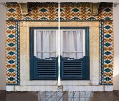 Çini Duvar ve Pencere Fon Perde Şık