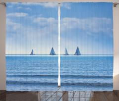 Okyanus Yolculuğu Fon Perde Okyanusta Yolculuk Temalı Yelkenli