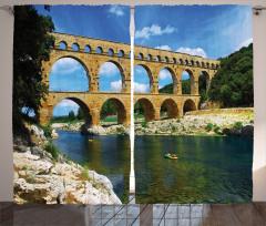 Tarihi Köprü Fon Perde Nehir Otantik