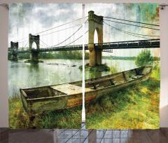 Nehirdeki Tarihi Köprü Fon Perde Nehir Kenarı