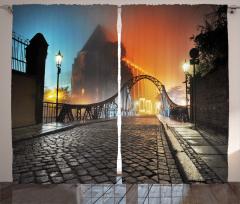 Romantik Yürüyüş Yolu Fon Perde Otantik Köprü