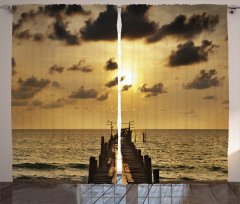 Romantik Gün Batımı Fon Perde Doğada Huzur