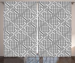 Siyah Beyaz Kafes Fon Perde Şık Tasarım