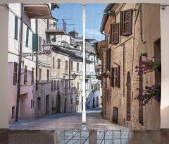 Nostaljik İtalya Sokağı Fon Perde Antik İtalyan Sokağı Temalı