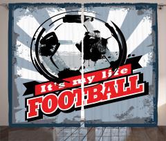 Futbol Nostaljisi Fon Perde Nostaljik Poster Mavi