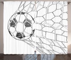 Top Ağlarda Fon Perde Kale Futbol Topu