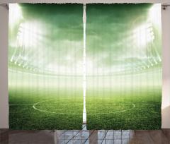 Futbol Sahası Fon Perde Yeşil Saha