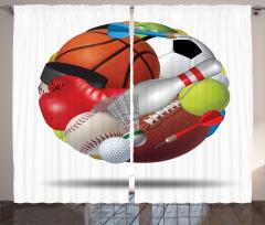 Spor Kolajı Fon Perde Futbol Basketbol Boks