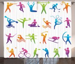 Spor Türleri Fon Perde Rengarenk Spor Türleri