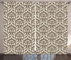 Duvar Kağıdı Desenli Fon Perde Bej Kahverengi Trend