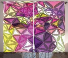 Rengarenk Geometrik Fon Perde Dekoratif