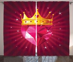 Mor Pırlanta ve Kraliçe Fon Perde Modern