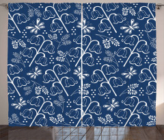 Lale Desenli Fon Perde Şık Lale Tasarımı Trend