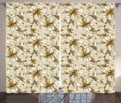 Nostaljik Şık Çiçek Fon Perde Nostaljik Çiçek Desenli Çeyizlik