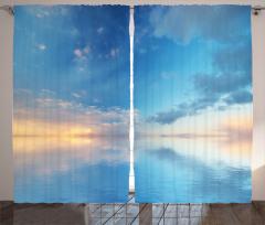 Gökyüzü Temalı Fon Perde Deniz Bulut Mavi Huzur