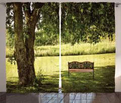 Ağaç Gölgesi Desenli Fon Perde Ağaç Gölgesi Yeşil