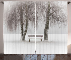 Kar ve Ağaç Fon Perde Doğa Ağaçlar Beyaz