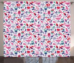Rengarenk Çiçekler Fon Perde Laleler Bahar