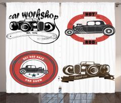 Nostaljik Klasik Araba Logoları Fon Perde Klasik Araba Logoları Retro
