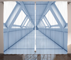 Uzay Gemisi Temalı Fon Perde Beyaz 3D Bilim Işık