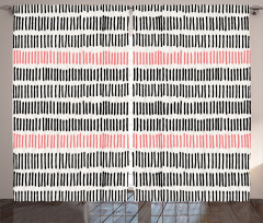 Dekoratif Desenli Fon Perde Trend Mercan Siyah Bej