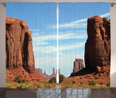 Monument Vadisi Baskılı Fon Perde USA Western