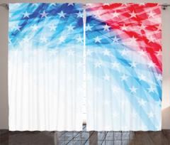 Amerikan Bayrağı Temalı Fon Perde Parlak Yıldızlar